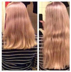 Волосы до и после применения