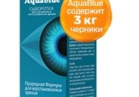 Капли AquaBlue для зрения