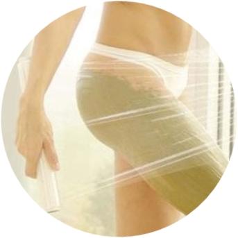 Оборачивание специальной плёнкой для похудения