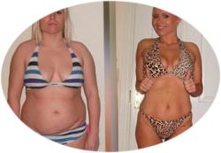 до и после использования средства для похудения